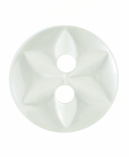 Round Star Button - 18 Lignes (11mm) - Pale Green (G203218_21)