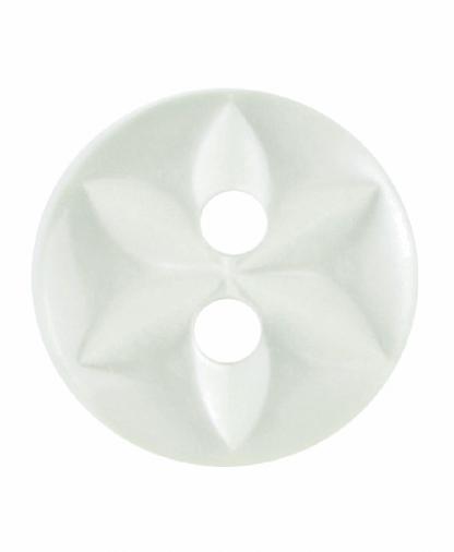 Round Star Button - 18 Lignes (11mm) - Pale Green (G203218_21)