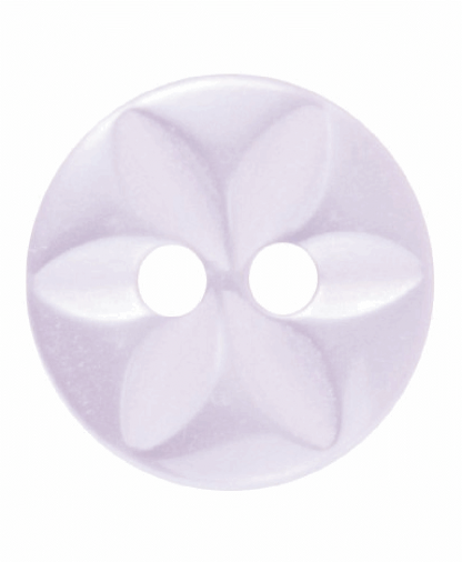 Round Star Button - 18 Lignes (11mm) - Pale Pink (G203218_6)