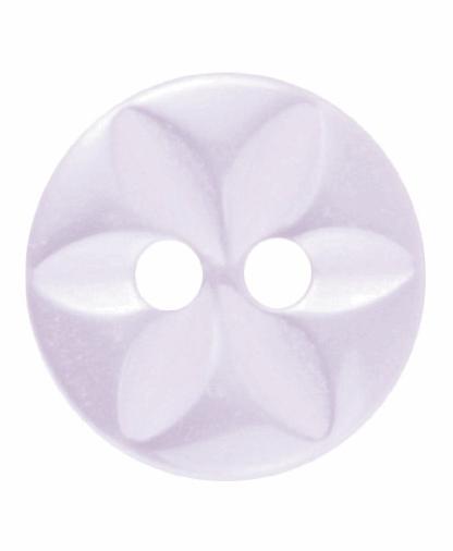 Round Star Button - 18 Lignes (11mm) - Pale Pink (G203218_6)
