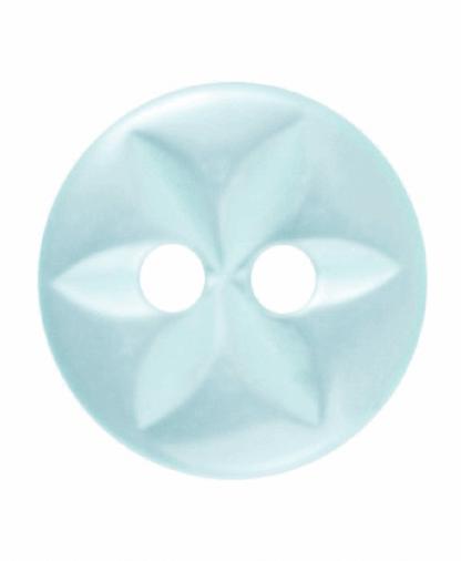 Round Star Button - 18 Lignes (11mm) - Turquoise (G203218_35)