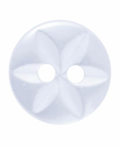 Round Star Button - 18 Lignes (11mm) - White (G203218_1)