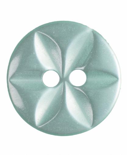 Round Star Button - 22 Lignes (14mm) - Green (G203222_37)