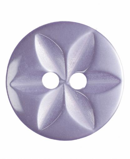 Round Star Button - 22 Lignes (14mm) - Lilac (G203222_11)
