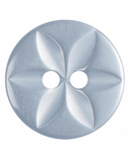 Round Star Button - 22 Lignes (14mm) - Pale Blue (G203222_15)