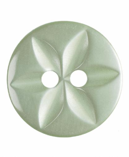 Round Star Button - 22 Lignes (14mm) - Pale Green (G203222_21)
