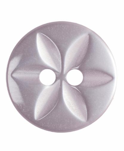 Round Star Button - 22 Lignes (14mm) - Pale Pink (G203222_6)