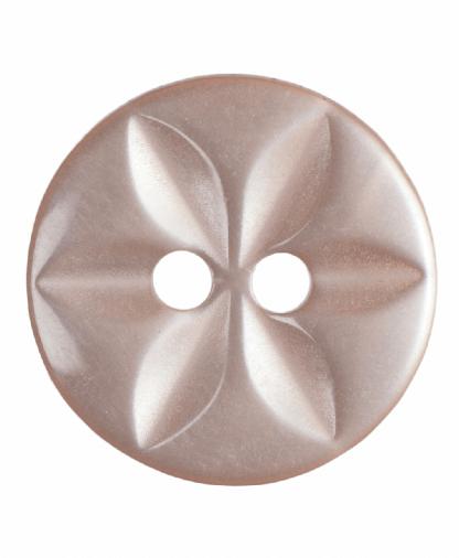 Round Star Button - 22 Lignes (14mm) - Peach (G203222_5)