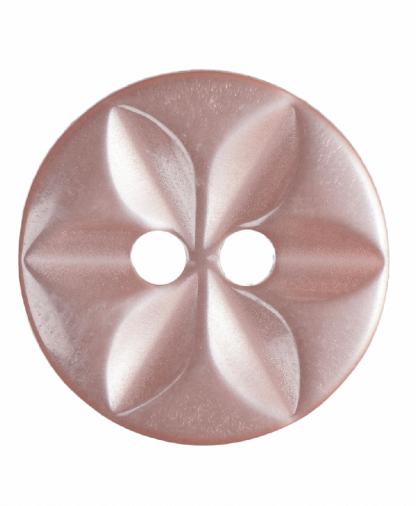 Round Star Button - 22 Lignes (14mm) - Pink (G203222_7)
