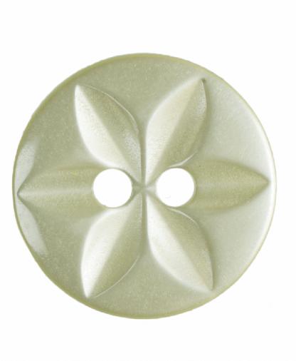 Round Star Button - 22 Lignes (14mm) - Yellow (G203222_3)