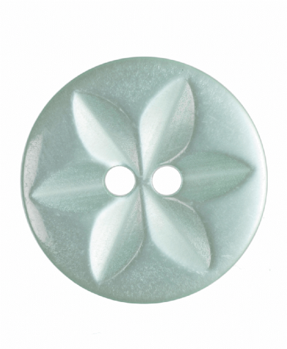 Round Star Button - 26 Lignes (16mm) - Green (G203226_37)