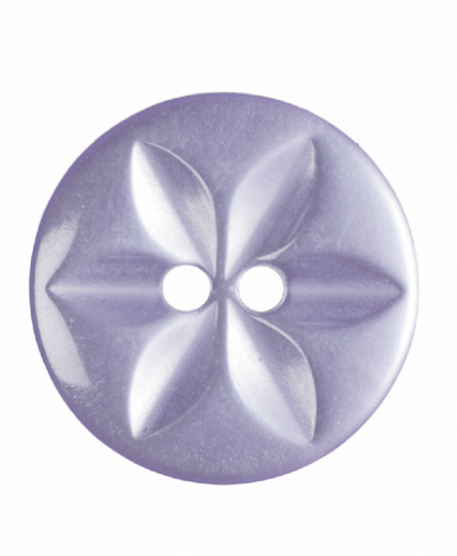 Round Star Button - 26 Lignes (16mm) - Lilac (G203226_11)