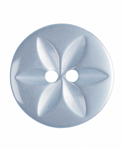 Round Star Button - 26 Lignes (16mm) - Pale Blue (G203226_15)