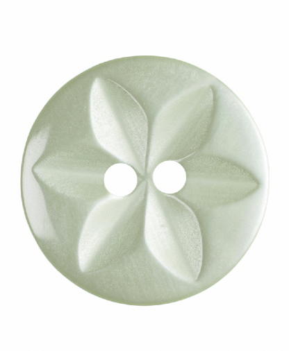 Round Star Button - 26 Lignes (16mm) - Pale Green (G203226_21)