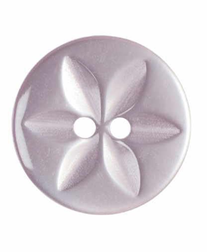 Round Star Button - 26 Lignes (16mm) - Pale Pink (G203226_6)