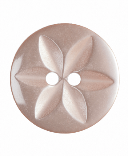 Round Star Button - 26 Lignes (16mm) - Peach (G203226_5)