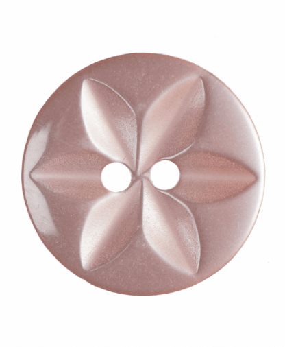 Round Star Button - 26 Lignes (16mm) - Pink (G203226_7)