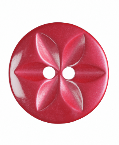Round Star Button - 26 Lignes (16mm) - Red (G203226_8)