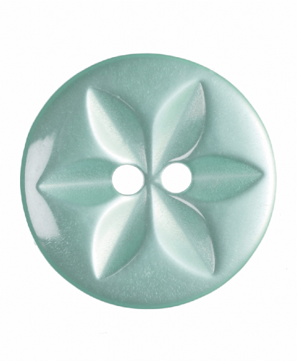Round Star Button - 26 Lignes (16mm) - Turquoise (G203226_35)
