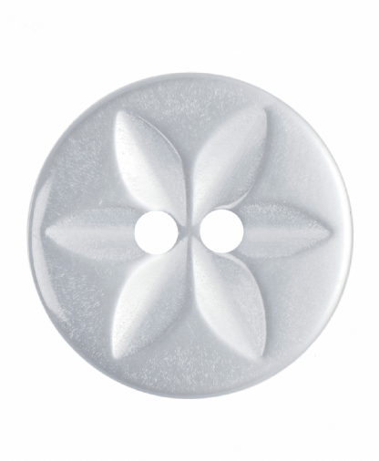 Round Star Button - 26 Lignes (16mm) - White (G203226_1)