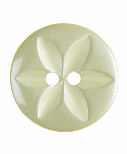 Round Star Button - 26 Lignes (16mm) - Yellow (G203226_3)