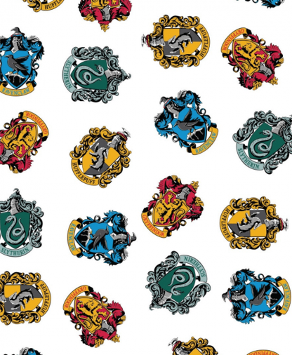 The Craft Cotton Co - Harry Potter Fabric - House Crests