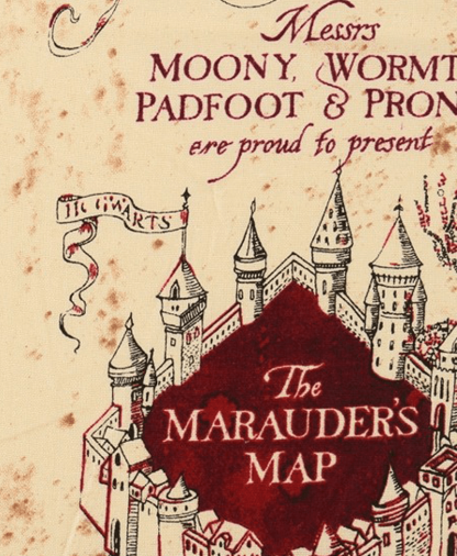 The Craft Cotton Co - Harry Potter Fabric - Marauders Map