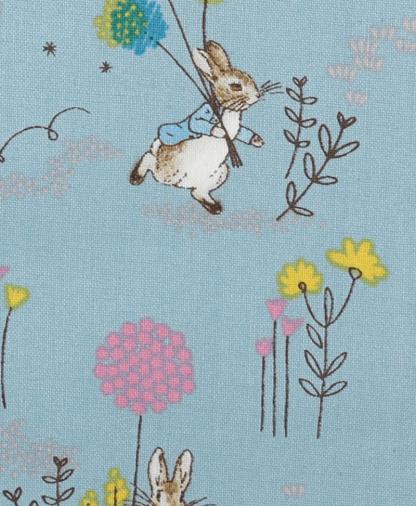 Craft Cotton Co - Peter Rabbit - Frolicking Peter - Teal (2306-01)