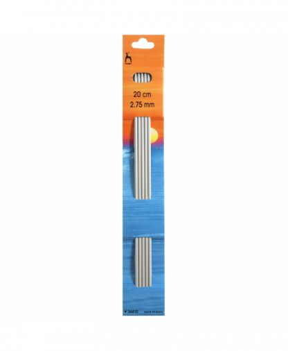 Pony - Double Pointed Knitting Needles Pack of 5 Aluminium 20cm - 2.75mm (P36615)