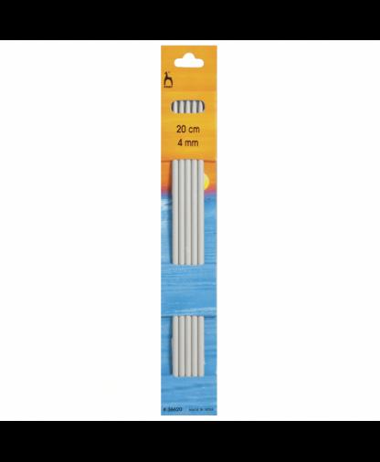 Pony - Double Pointed Knitting Needles Pack of 5 Aluminium 20cm - 4.00mm (P36620)