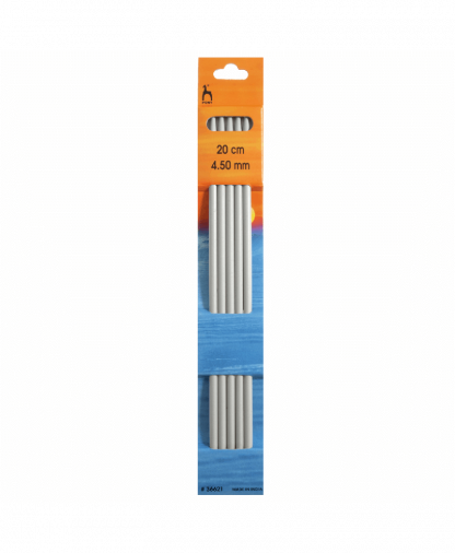 Pony - Double Pointed Knitting Needles Pack of 5 Aluminium 20cm - 4.50mm (P36621)