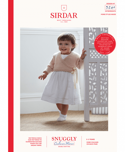 Sirdar - Snuggly Cashmere Merino Pattern - Cardigan (5240)