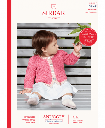 Sirdar - Snuggly Cashmere Merino Pattern - Cardigan (5242)