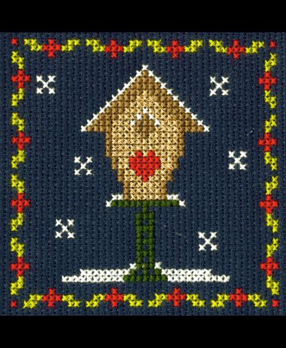 DMC Christmas Mini Cross Stitch Kit - Bird House