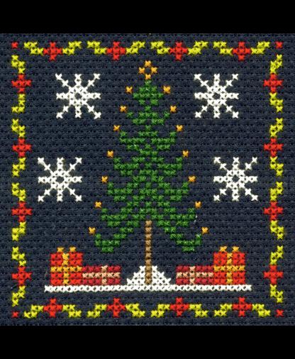 DMC Christmas Mini Cross Stitch Kit - Christmas Tree