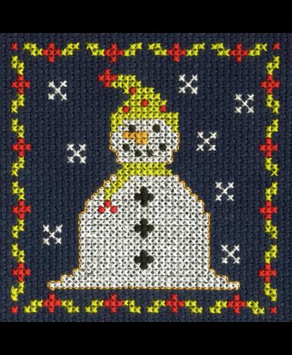 DMC Christmas Mini Cross Stitch Kit - Jolly Snowman
