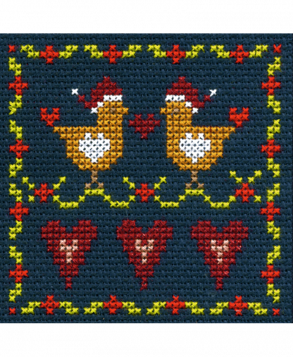 DMC Christmas Mini Cross Stitch Kit - Love BIrds