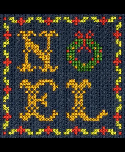DMC Christmas Mini Cross Stitch Kit - Noel Wreath
