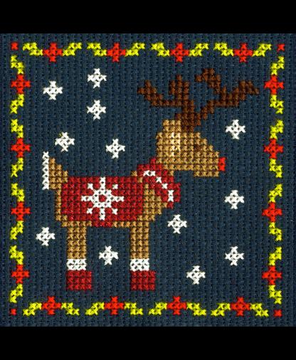 DMC Christmas Mini Cross Stitch Kit - Reindeer