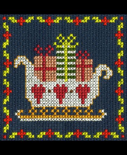 DMC Christmas Mini Cross Stitch Kit - Santa Sleigh