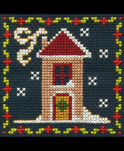 DMC Christmas Mini Cross Stitch Kit - Snowy House