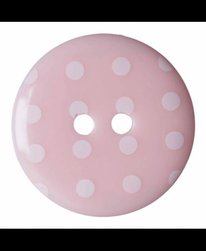 Hemline Spot Button - Size 36 Pink (203615)