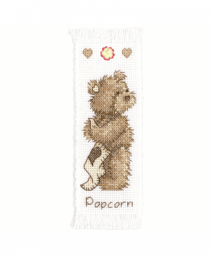 Popcorn By Vervaco - Popcorn Bear Bookmark Cross Stitch Kit (1695_VE01)