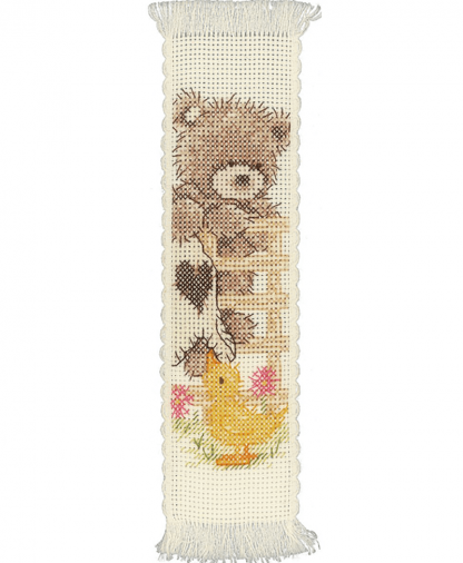 Popcorn By Vervaco - Popcorn Bear and Souffle Bookmark Cross Stitch Kit (PN-0148132)