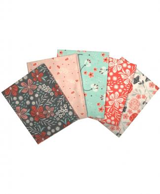 Craft Cotton Co - Floral - Grey - Fat Quarters