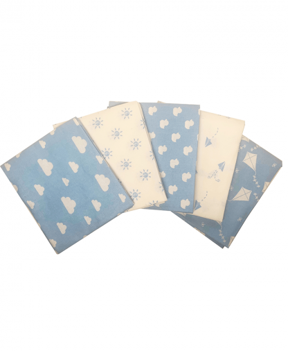 Craft Cotton Co - Nursery Basics - Blue - Fat Quarters