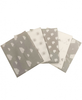 Craft Cotton Co - Nursery Basics - Grey - Fat Quarters