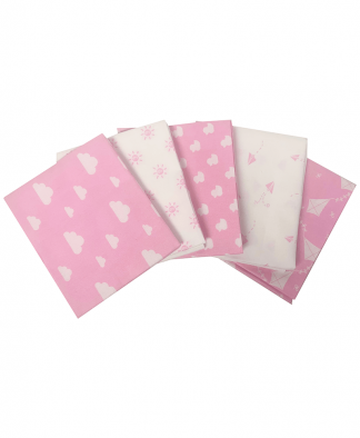 Craft Cotton Co - Nursery Basics - Pink - Fat Quarters