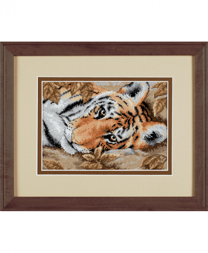 Dimension _Gold Collection Petite Cross Stitch Kit - Beguiling Tiger (D65056)