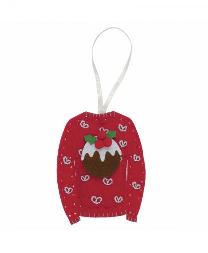 Trimits - Make Your Own Felt Decoration Kit - Christmas Jumper (GCK041)